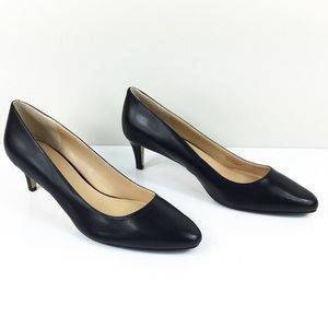 NWOB COLE HAAN GRAND OS BLACK LEATHER PUMPS 12